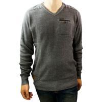 Suéter Masculino Gangster Tricot 67.09.0211 - Masculino-Cinza