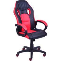 Cadeira Office Gamer- Preta & Vermelha- 117X46X51Cm