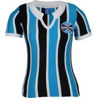 Camisa Grêmio Oldoni Retrô 1977 Nº 9 Feminina - Feminino