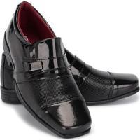 Sapato Social Infantil Masculino Couro Schiareli - Masculino-Preto