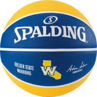 Bola De Basquete Spalding Nba Golden State Warriors Team - Azul/Amarelo