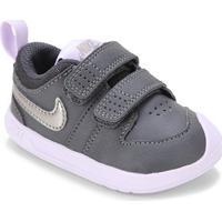Tênis Infantil Nike Pico 5 - Unissex-Cinza+Roxo
