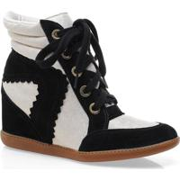 Sneaker Fem Hetane 1201201 Preto/Off White