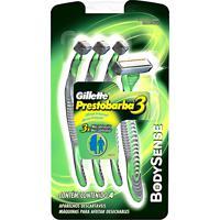 Aparelho De Barbear Gillette Prestobarba3 Body Sense Descartável Com 4 Unidades