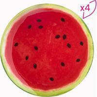 Jogo De Pratos Melancia Para Sobremesa- Vermelho & Verdebon Gourmet