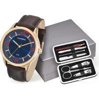 Kit Relógio Masculino Mondaine 53515Gpmvdh3K