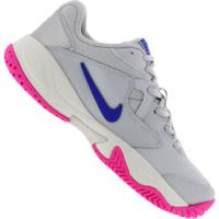 Tênis Nike Court Lite 2 - Feminino - Cinza Cla/Azul