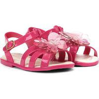 Sandália Infantil World Colors Glitter Aplique Borboleta Feminina - Feminino-Pink
