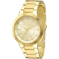 Relógio Technos Ladies 2035Mff/K4X Feminino - Feminino-Dourado