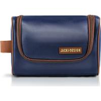 Necessaire Com Alça Lateral - Jacki Design - Masculino-Marrom+Azul