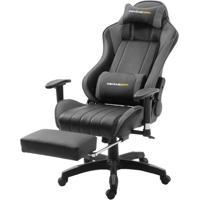 Cadeira Office Xsx Em Courino Preto E Cinza - 53539 - Sun House