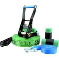 Slackline Zamboo Pro Black 20 Mts - Verde