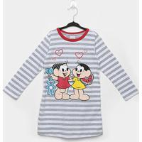 Pijama Infantil Evanilda Camisola Turma Da Mônica - Feminino-Off White