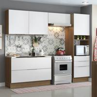 Cozinha Compacta Stella Smile 6 Pt 3 Gv Rustic E Branco