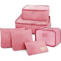 Kit Organizador De Malas De 6 Peã§As Jacki Design Viagem Rosa - Rosa - Dafiti