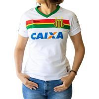 Camisa Gola V Poliéster Bordado Sampaio Corrêa Esporte Clube Oficial Número 23 Feminina - Feminino
