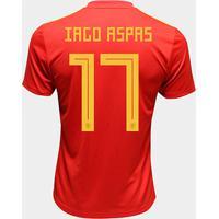 Camisa Seleção Espanha Home 2018 N° 17 Iago Aspas - Torcedor Adidas Masculina - Masculino