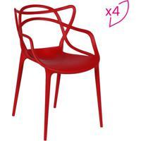 Jogo De Cadeiras De Jantar Solna- Vermelho- 4Pã§Sor Design