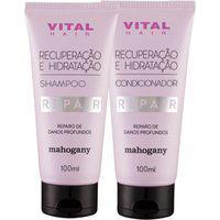 Shampoo E Condicionador Repair Recuperação E Hidratação Vital Hair Mahogany