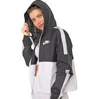 Jaqueta Corta Vento Nike Sportswear W Nsw Wvn Core Preta/Branca