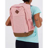 Mochila Puma Backpack Rosa E Marrom