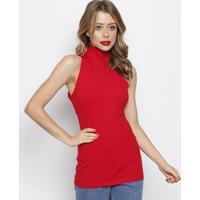Blusa Canelada Com Vazado- Vermelha- Forumforum
