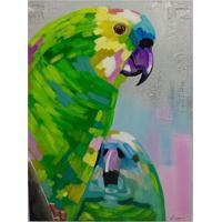 Quadro Pintura Arara Colorido Fullway