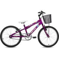 Bicicleta Mormaii Aro 20 Em Alumínio Sweet Girl Com Cesta - Violeta