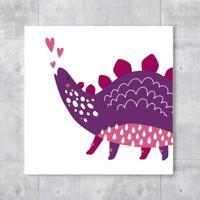 Placa Decorativa - Littledino Purple