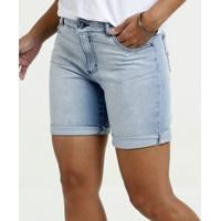 Bermuda Feminina Jeans Barra Dobrada Gups