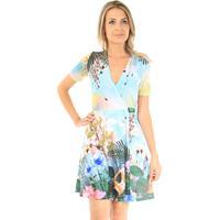 Vestido Envelope 101 Resort Wear Azul Claro