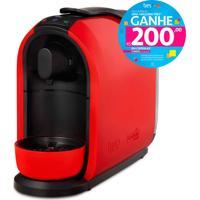 Máquina De Café Espresso E Multibebidas Automática Mimo Vermelha Três Corações - 0,95L De Capacidade, Descarte Automático, Pressões Entre 15 E 2 Bar