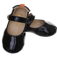 Sapato Boneca Mogly Verniz - Feminino-Preto