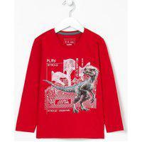 Camiseta Infantil Estampa Dinossauro- Tam 5 A 14 Anos | Fuzarka (5 A 14 Anos) | Vermelho | 9-10