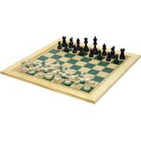 Jogo De Xadrez Tabuleiro 30X30 Com Moldura - Fundamental