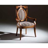 Cadeira Fênix Com Braço Madeira Maciça Design Clássico Avi Móveis