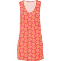 Vestido Agua Doce Curto Floral Rosa/Laranja