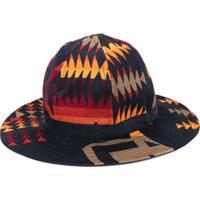 Sacai Chapéu Estampado - Azul