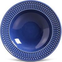 Prato Fundo Roma Cerâmica 6 Peças Azul Navy Porto Brasil