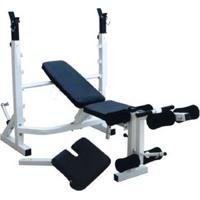 Banco De Supino Wct Fitness 363 Estação De Musculação Aparelho Ginastica Preto