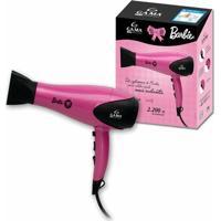 Secador De Cabelo Gama Italy Barbie 220V Rosa E Preto 2200W Com 6 Temperaturas - Unissex