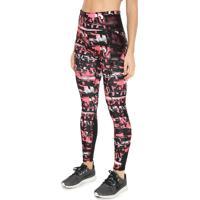 Legging Puma Be Bold Aop 7/8 Tight Preta/Rosa