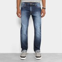 6436a855d Netshoes; Calça Jeans Slim Cavalera Classic Estonada Masculina - Masculino-Azul  Escuro