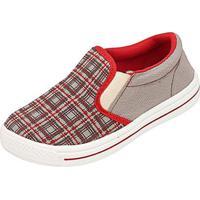 Tênis Infantil Plis Calçados Full Masculino - Masculino-Cinza+Vermelho