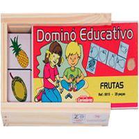 Dominó Educativo Frutas - Carimbrás - Brinquedo Educativo