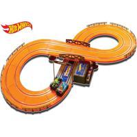 Pista Hot Wheels Track Set Basic 286Cm Com 2 Carrinhos + 2 Controles Indicado Para +5 Anos Multikids - Br081