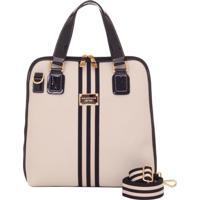 Bolsa Smartbag Creme/Verniz Lux Preto - 86028.16