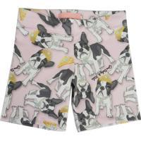 Shorts Infantil Gira Baby Kids Bulldog Rosa