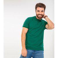 Camisa Polo Folhas Rovitex Verde