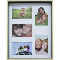 Quadro Para Fotos Wood Natural E Preto 30X40Cm